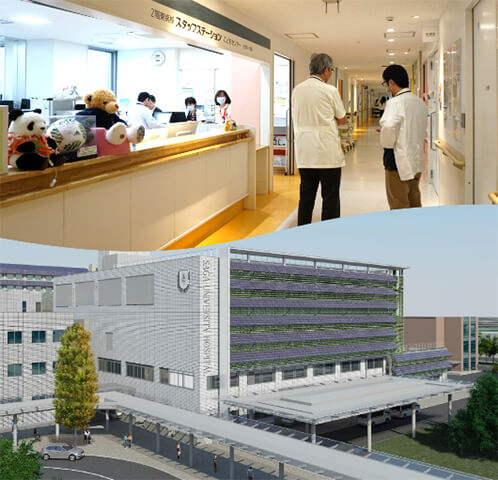 佐賀大学医学部附属病院 院内・外観